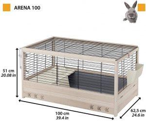 Ferplast Jaula de Madera para Conejos Arena 100
