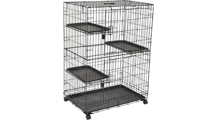 Jaula grande de 3 niveles para gato