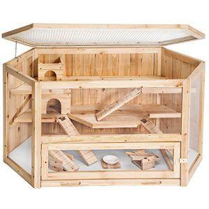 casa para hamster de madera